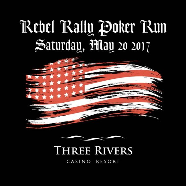 rebel rally poker run t-shirt